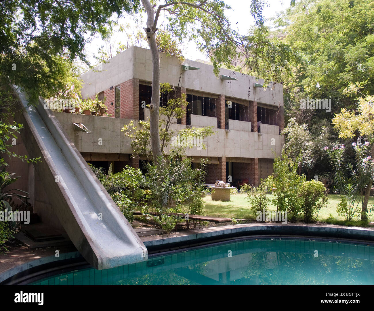 Sarabhai House Ahmedabad India Le Corbusier Stock Photo