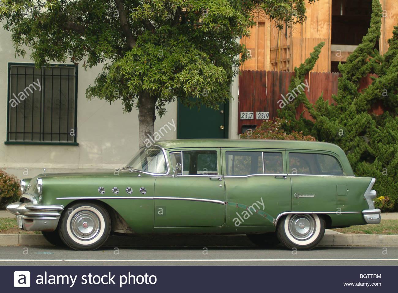 Green station wagon estate California Old American car USA United ...