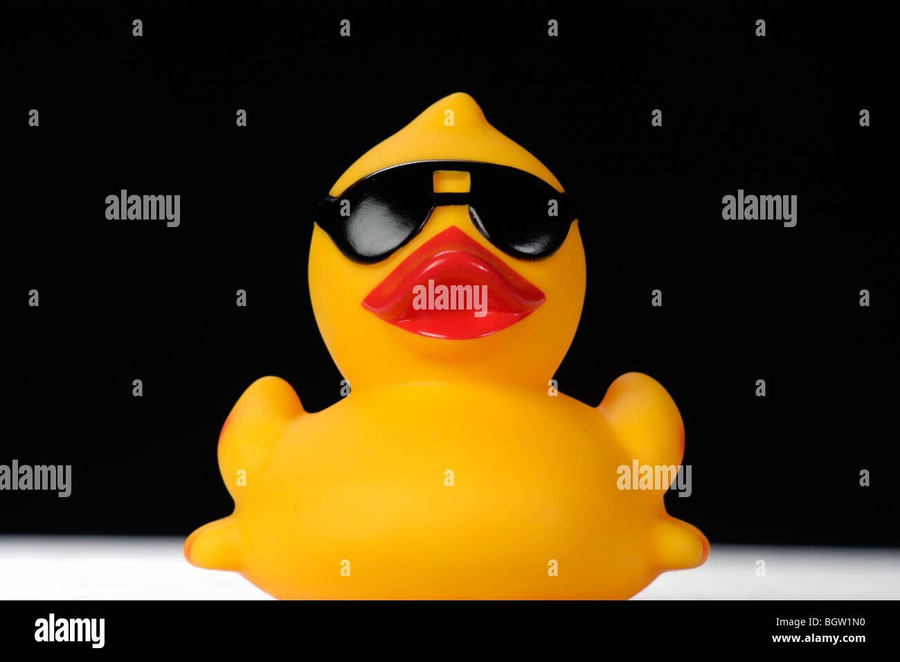 rubber duck with sunglasses stock photo royalty free image