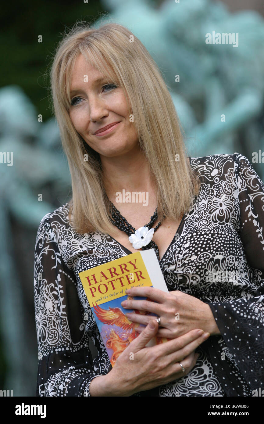 Joanne K. ( J.K.) Rowling, creator and author of Harry Potter ...