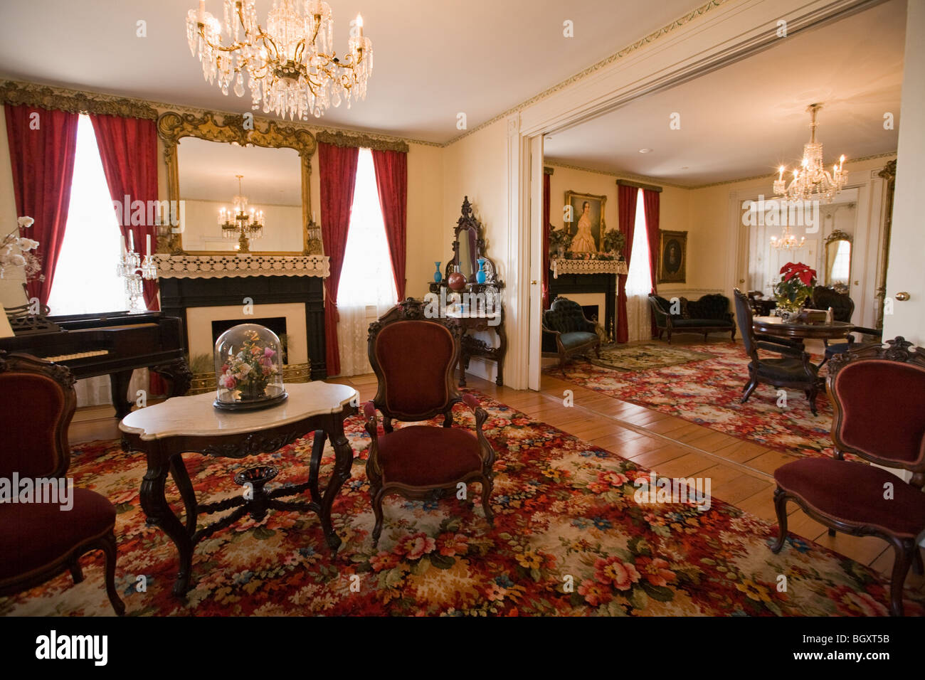 first white house of the confederacy interior montgomery alabama stock photo royalty free. Black Bedroom Furniture Sets. Home Design Ideas