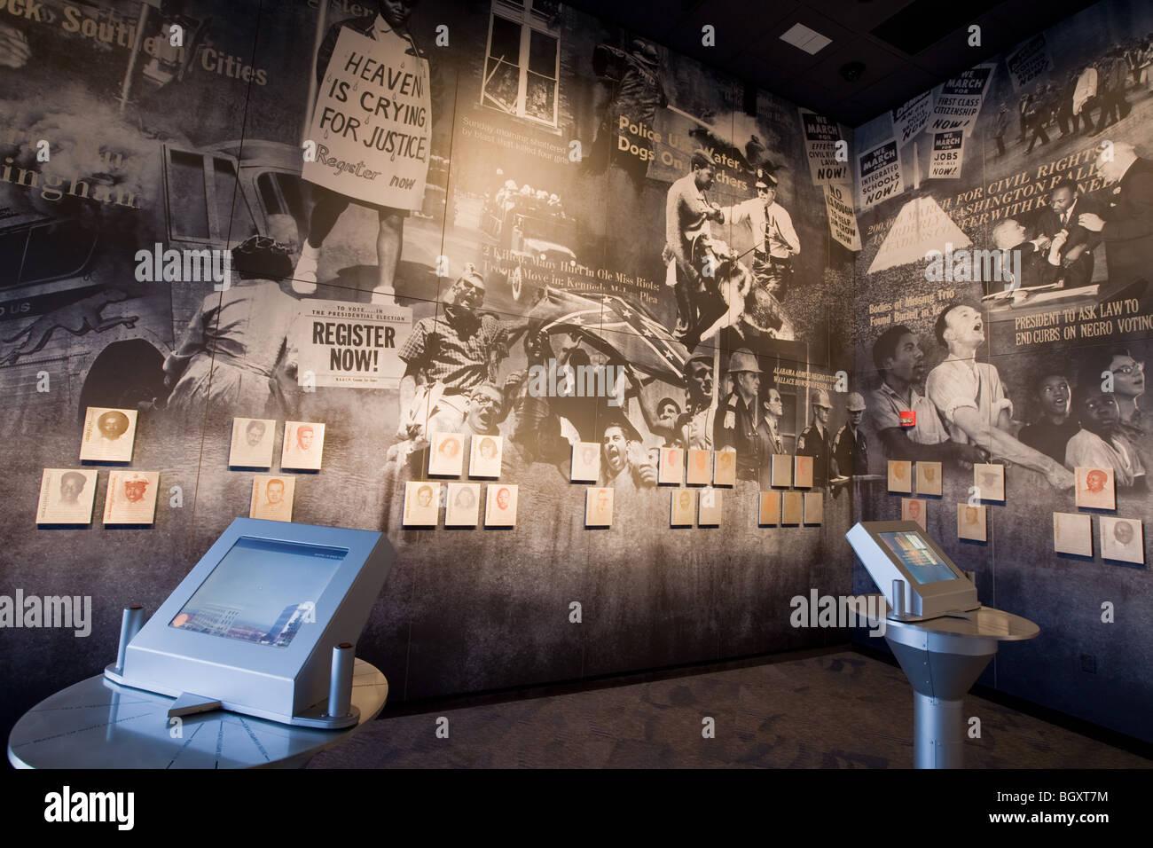 Inside Civil Rights Memorial Center Montgomery Alabama
