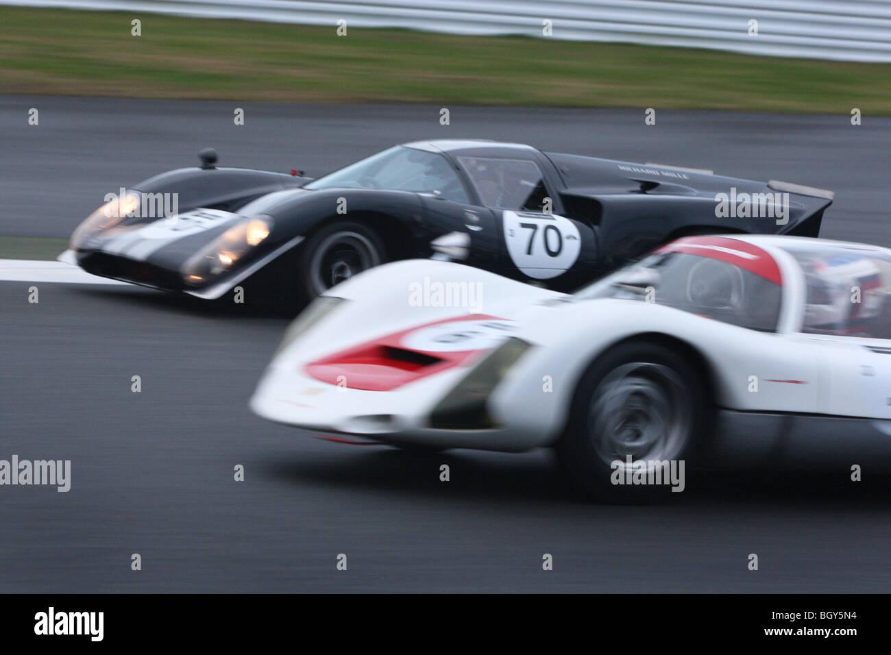 Lola Mkiii B And Porsche Carrera Le Mans Classic