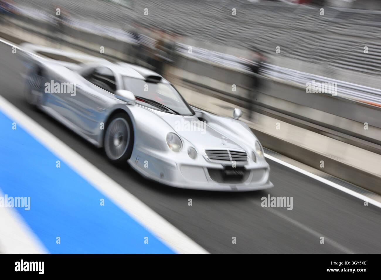 Mercedes Car Track Race Stock Photos & Mercedes Car Track Race ...