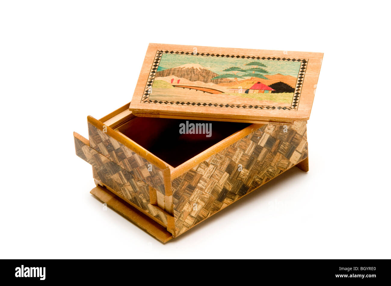 chinese wooden puzzle box