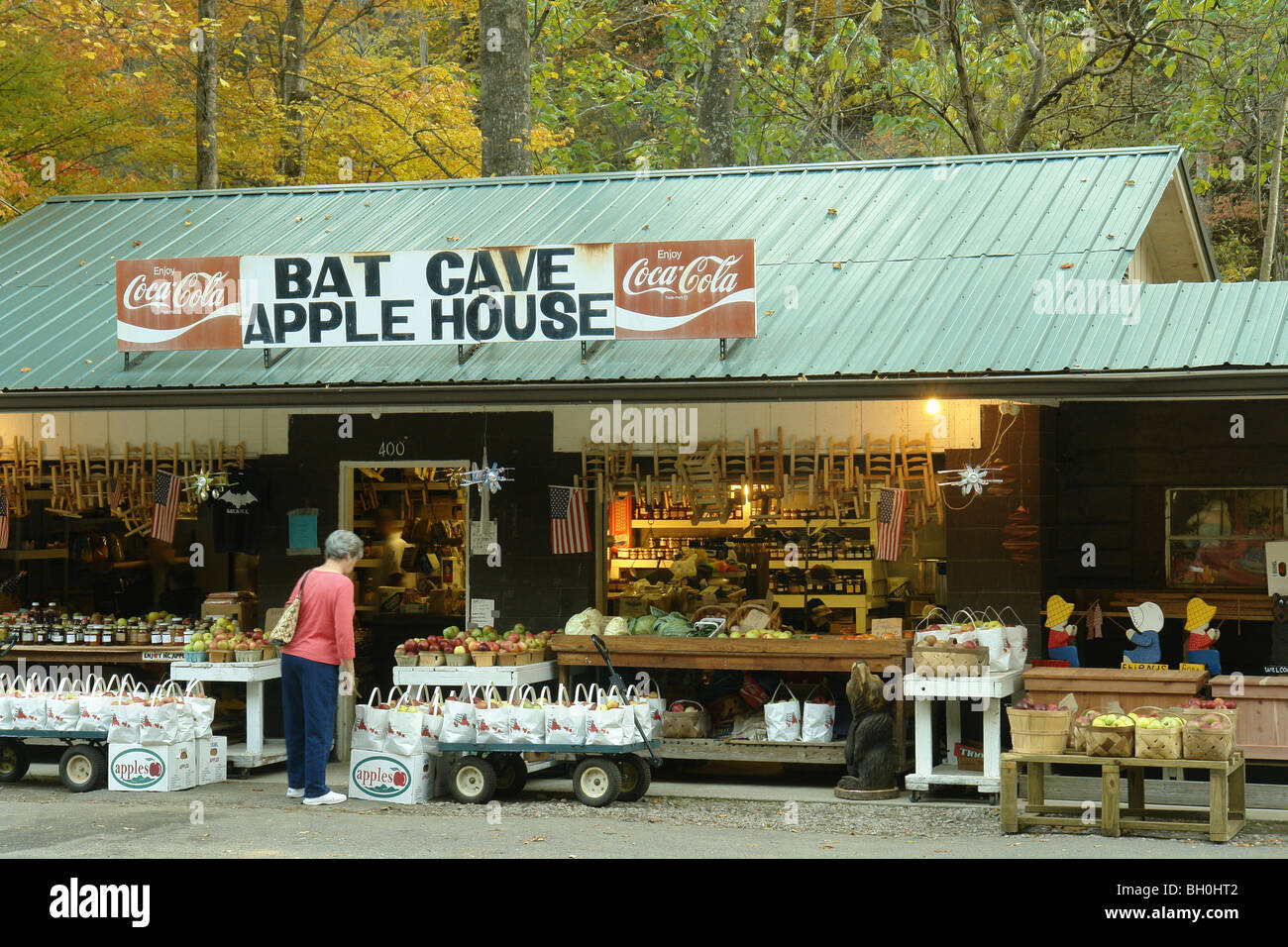 Chimney rock nc north carolina bat cave apple house country store autumn