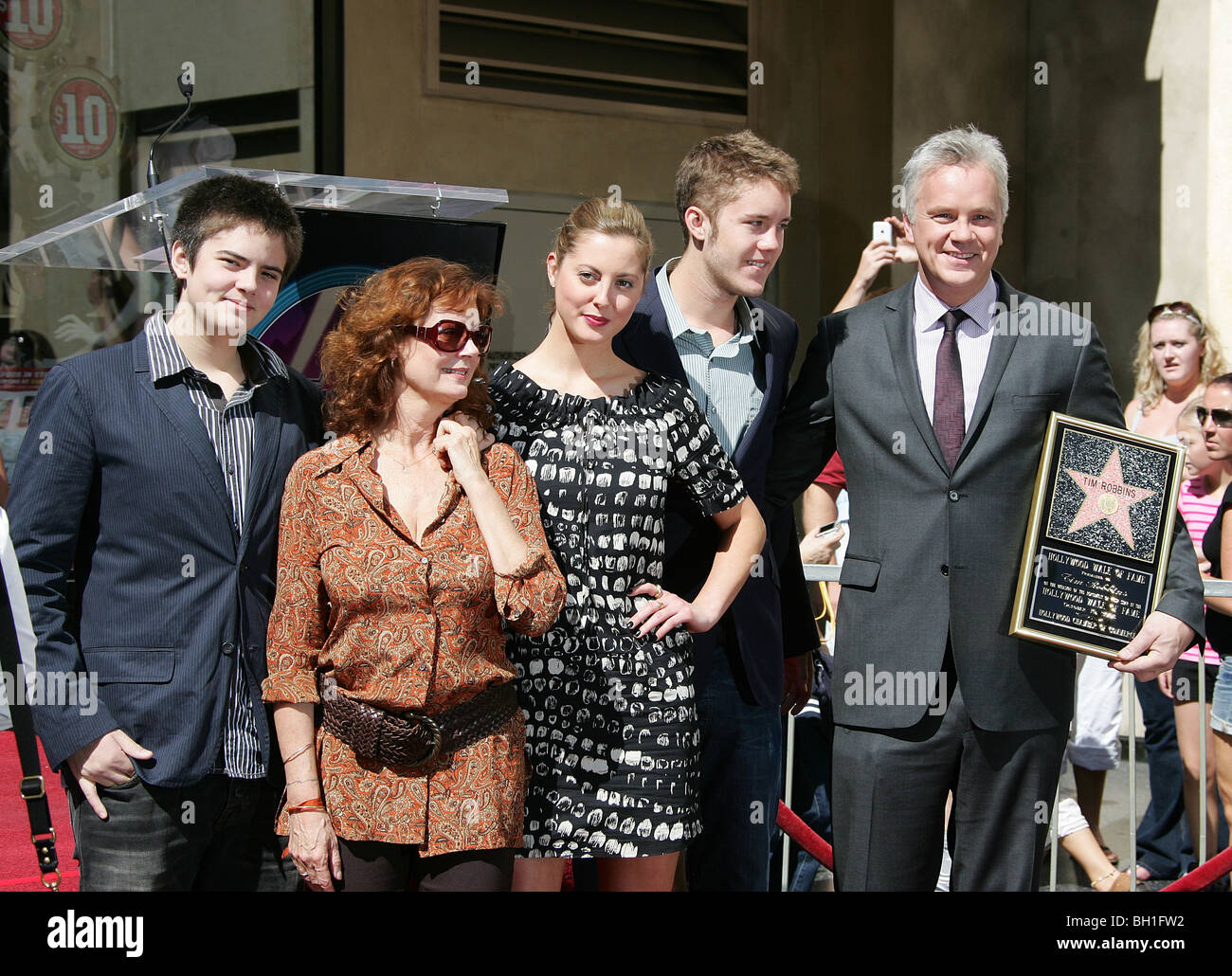 SUSAN SARANDON TIM ROBBINS & ACTORS & CHILDREN HOLLYWOOD ...