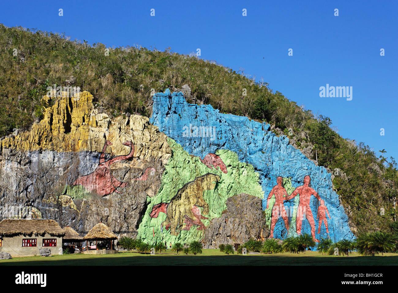 Mural de la prehistoria vinales pinar del rio cuba for Mural de la prehistoria