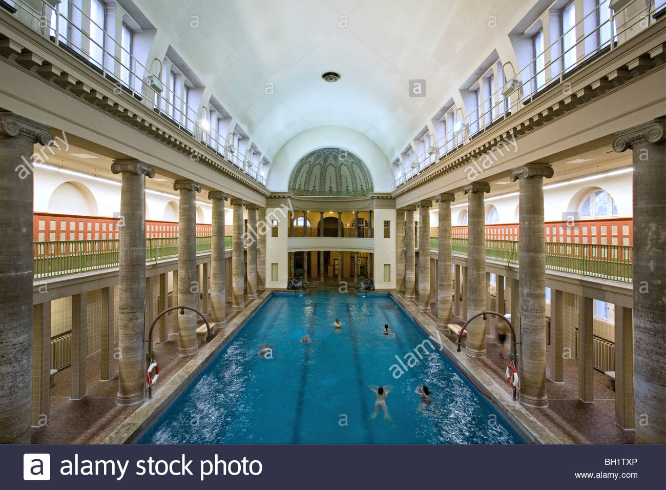 stadtbad neukoelln opened in 1914 roman style baths berlin stock photo royalty free image. Black Bedroom Furniture Sets. Home Design Ideas