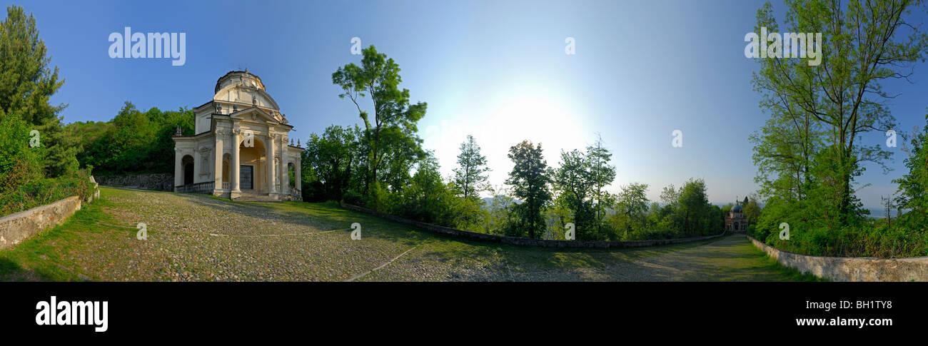 Varese Italien chapels at pilgrimage path santa monte sacromonte di