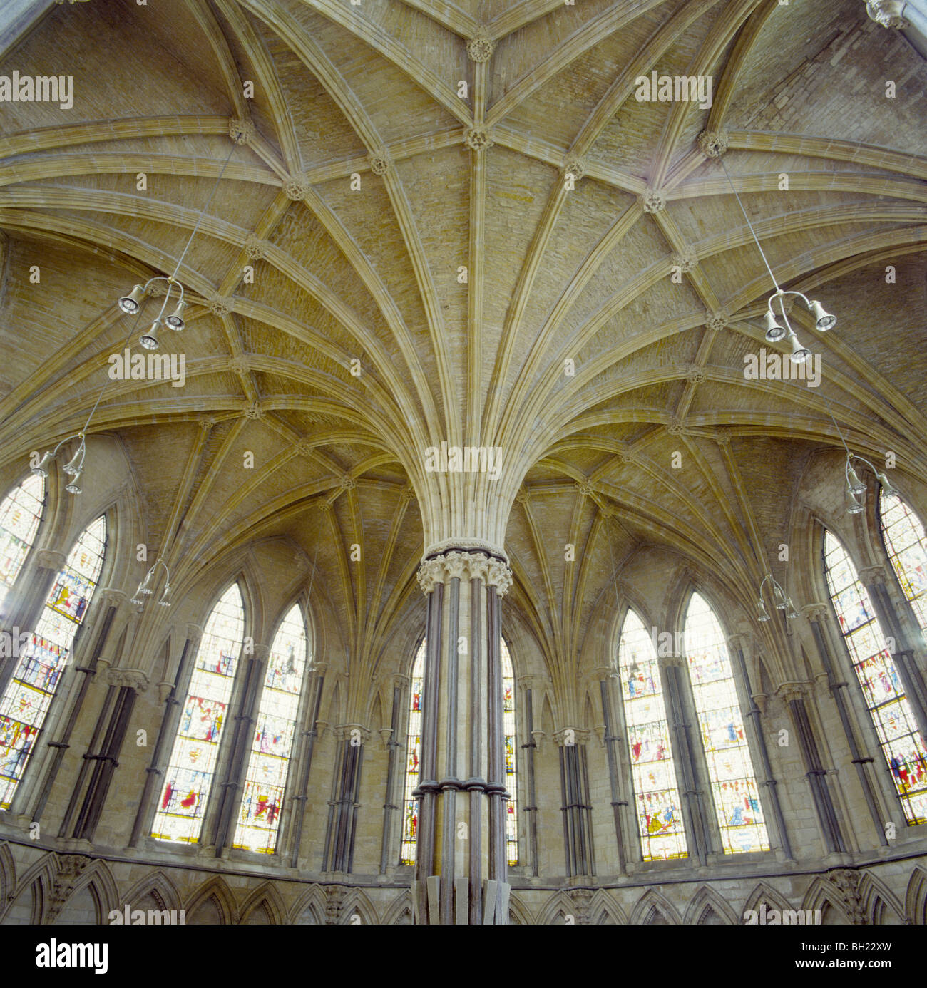 Lincoln Cathedral Uk The Chapter House Ceiling And Its