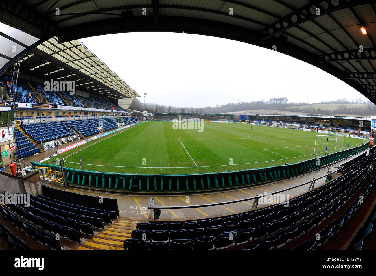 View Inside Adams Park Stadium High Wycombe Home Of Wanderers Football Club And