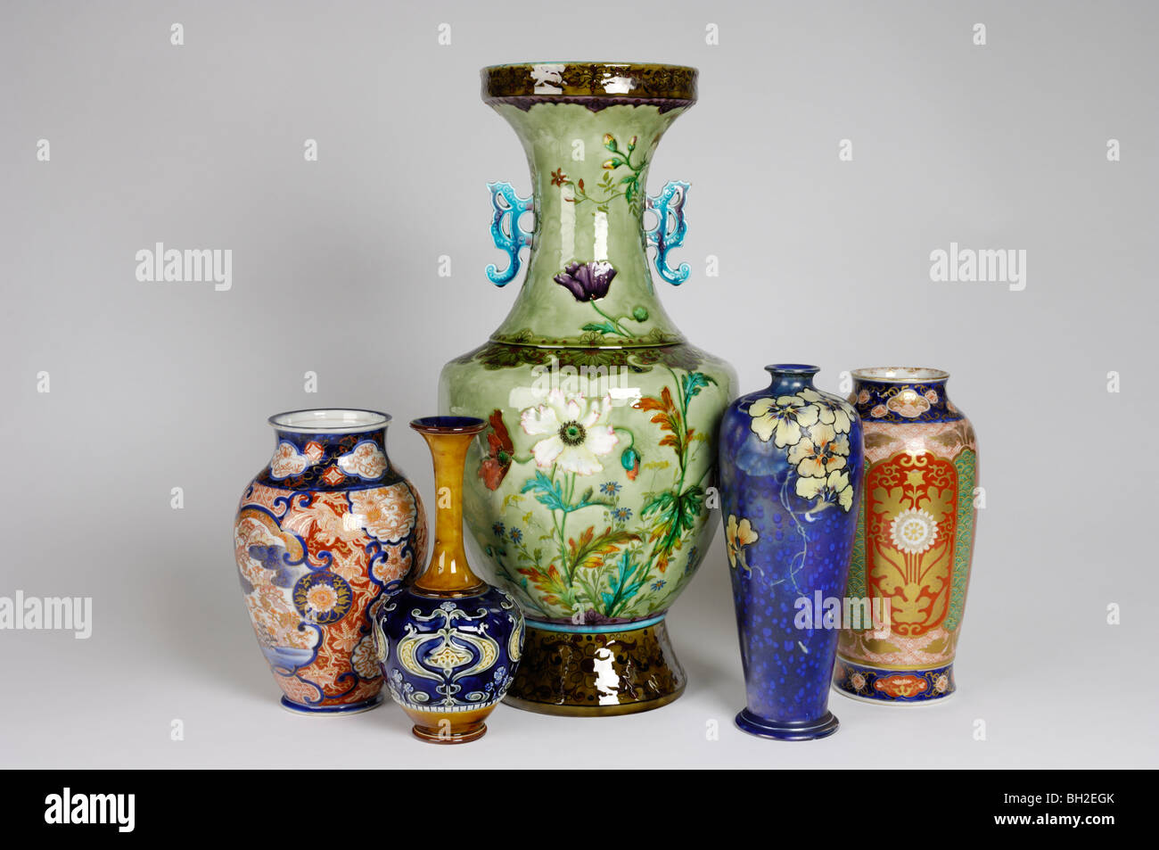 A group of antique vases including a huge french vase by theodore a group of antique vases including a huge french vase by theodore deck two japanese vases and two art nouveau vases reviewsmspy
