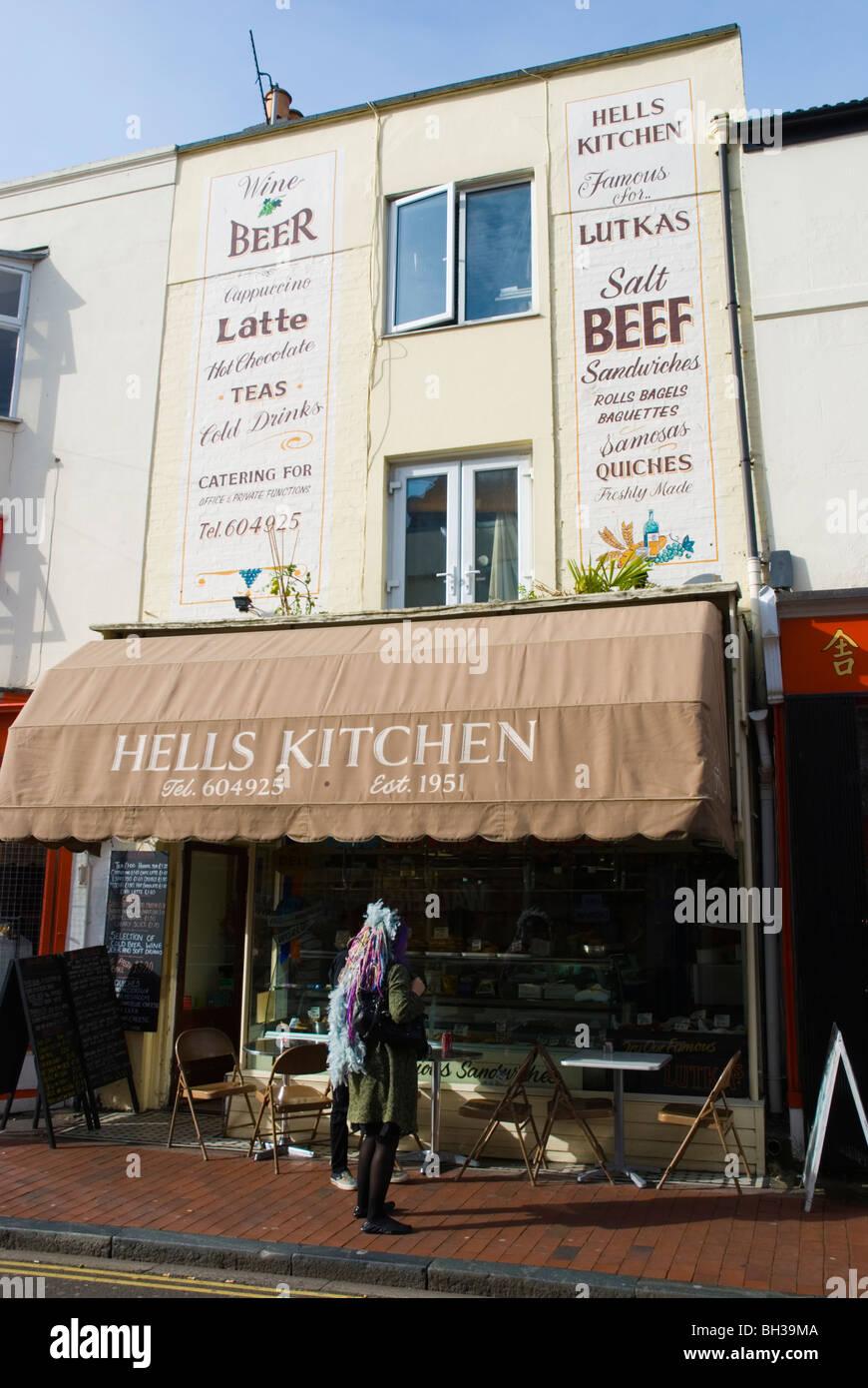 hells kitchen cafe sydney street north laine brighton england uk
