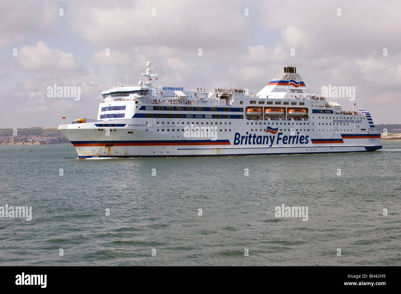 Brittany Ferries Cross Channel Car Ferry Portsmouth Harbour Stock
