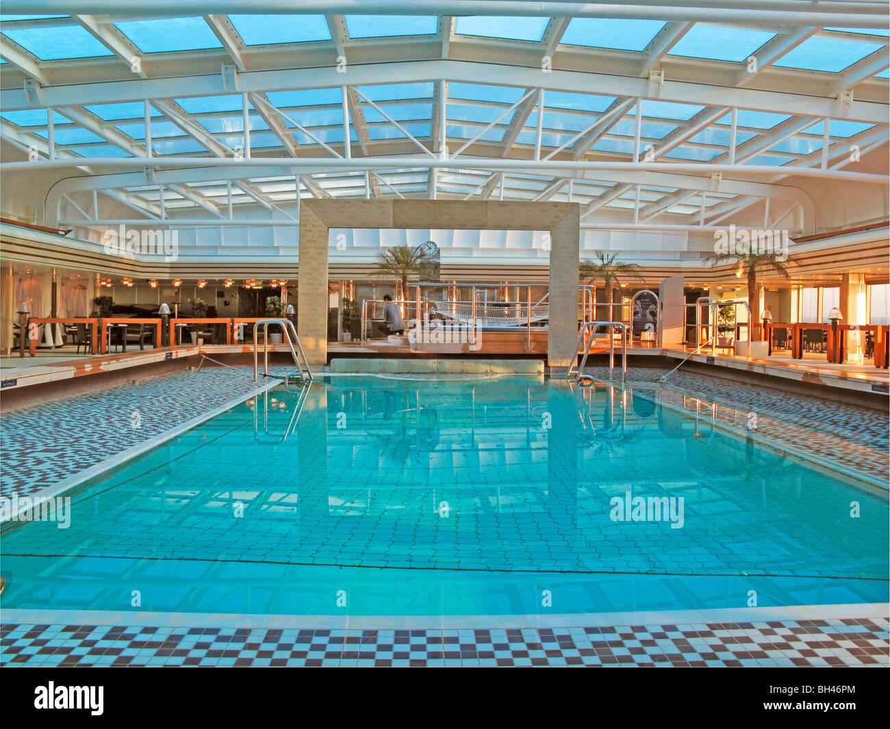 Eurodam Cruise Ship Pool Stock Photo Royalty Free Image - Eurodam cruise ship