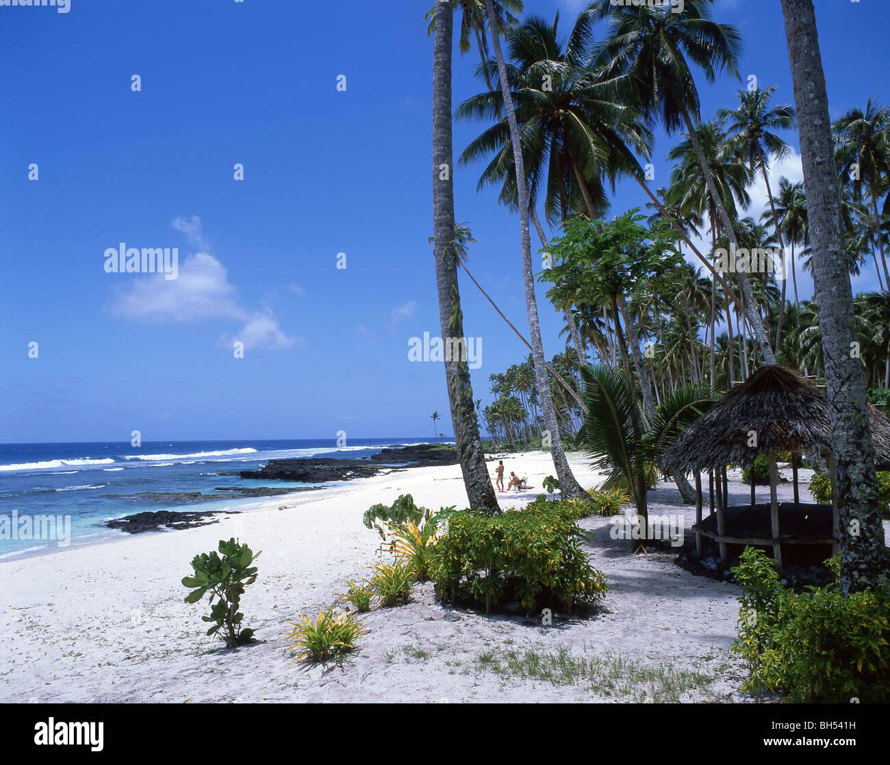 Samoa Beaches: 'Return To Paradise' Beach, Upolu, Western Samoa Stock