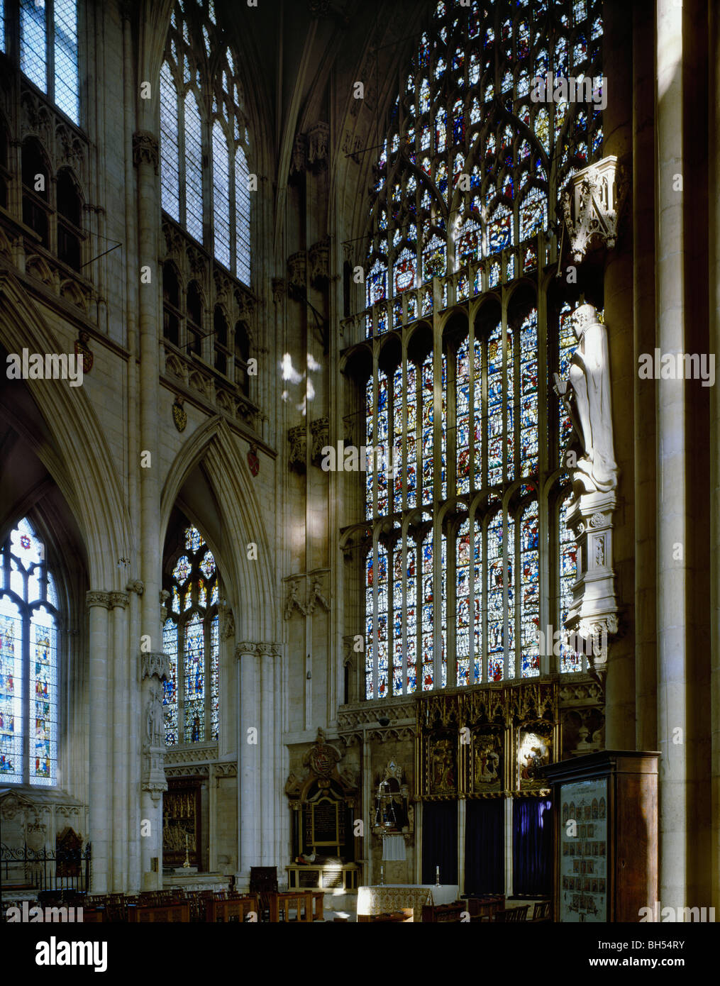 York minster lady chapel and the great east window stock for West window york minster