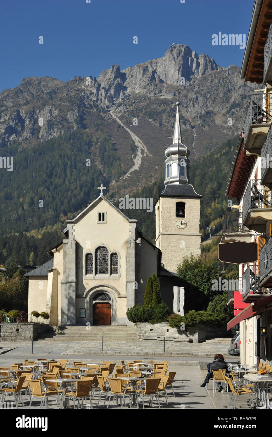 Assez Chamonix Mont Blanc Church France Stock Photos & Chamonix Mont  GC11