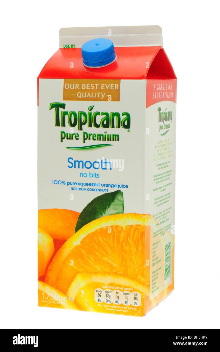 Carton of Tropicana Pure Orange Juice Stock Photo, Royalty ...