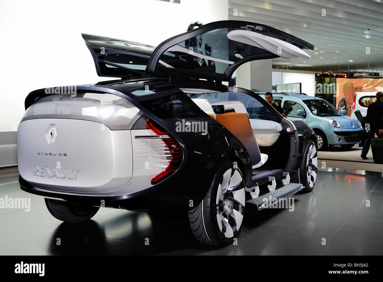Paris France Paris Auto Show Electric Motor Concept