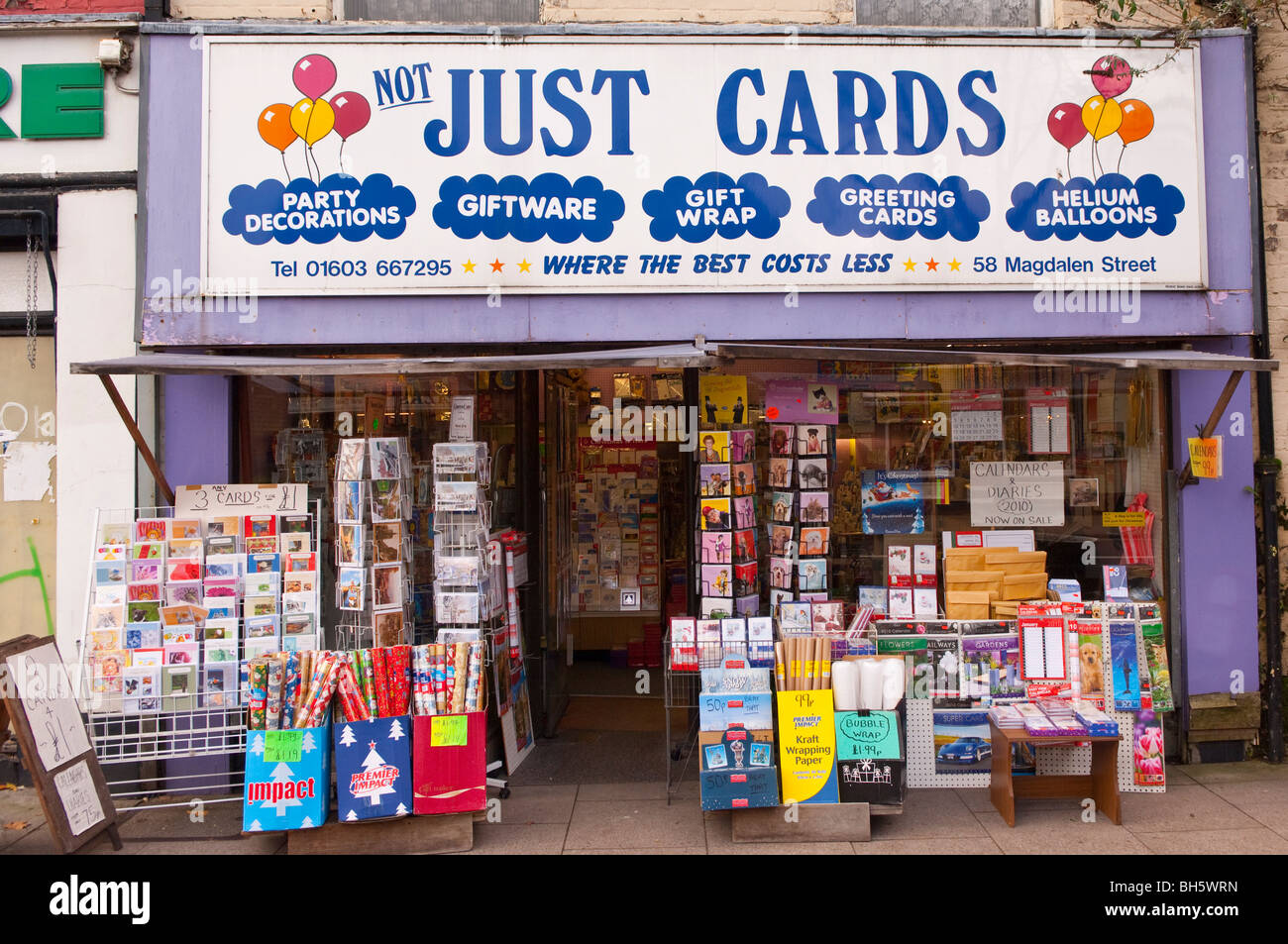 The just cards shop store in norwich norfolk england britain the just cards shop store in norwich norfolk england britain uk kristyandbryce Choice Image