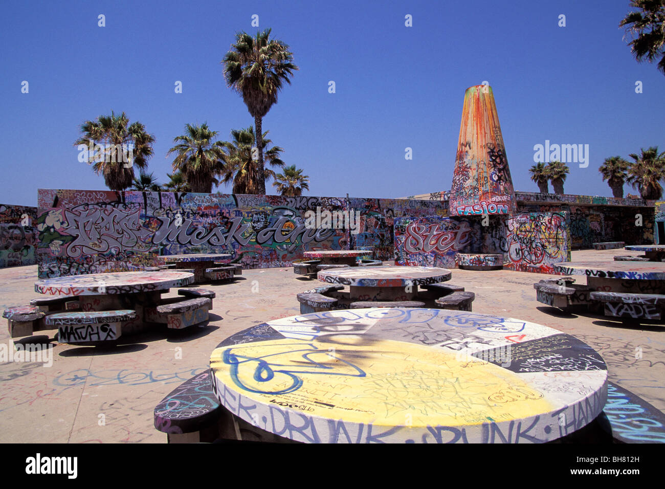 Gang Murals Venice Beach Los Angeles California Stock