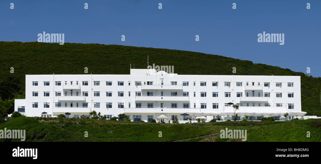 Art deco hotel saunton sands devon stock photo royalty for Art deco hotel devon