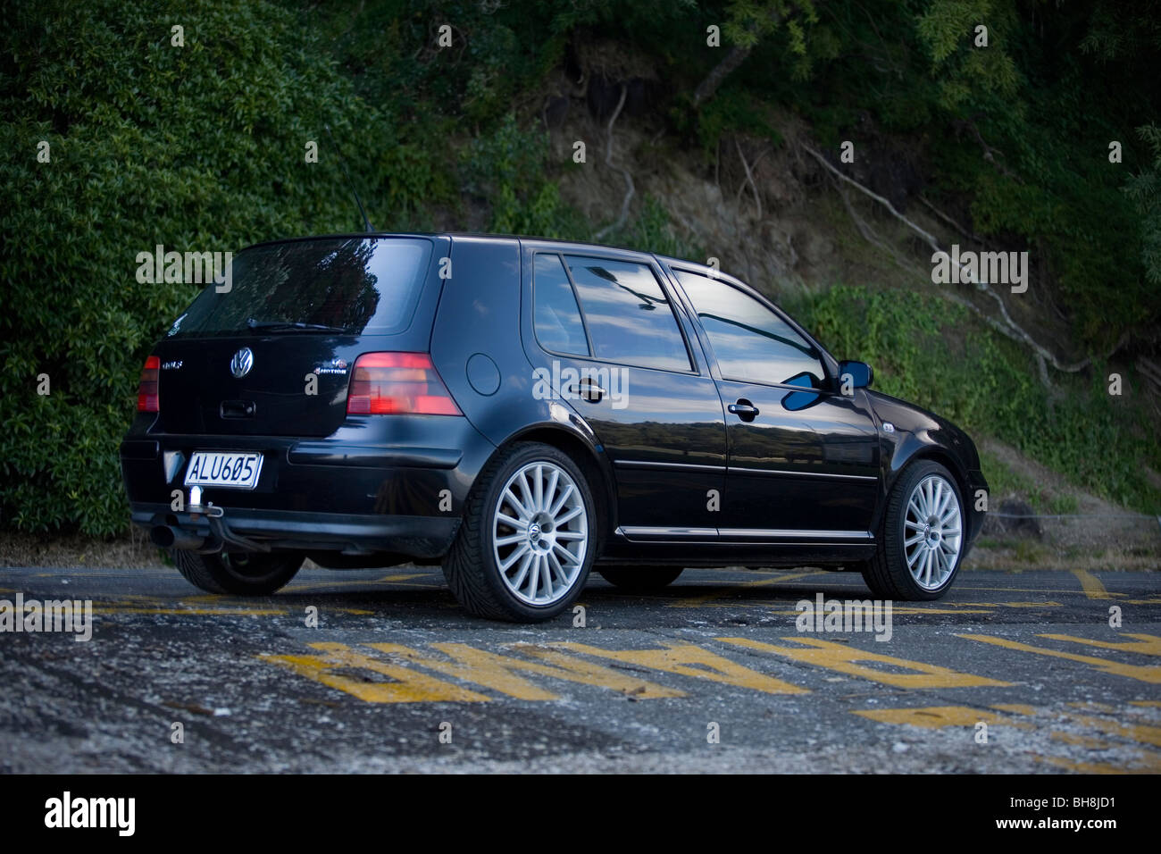 2002 black volkswagen 2 8l v6 6 speed manual 4motion golf with r32 stock photo royalty free. Black Bedroom Furniture Sets. Home Design Ideas