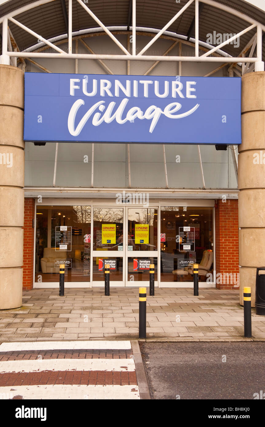 The Furniture Village Shop Store In Norwich , Norfolk , England , Britain ,  Uk