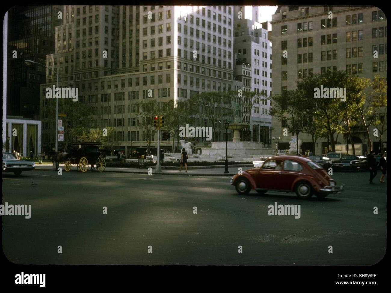 A S Volkswagen Beetle Rolls Down A Street In Front Of FAO - Volkswagen new york