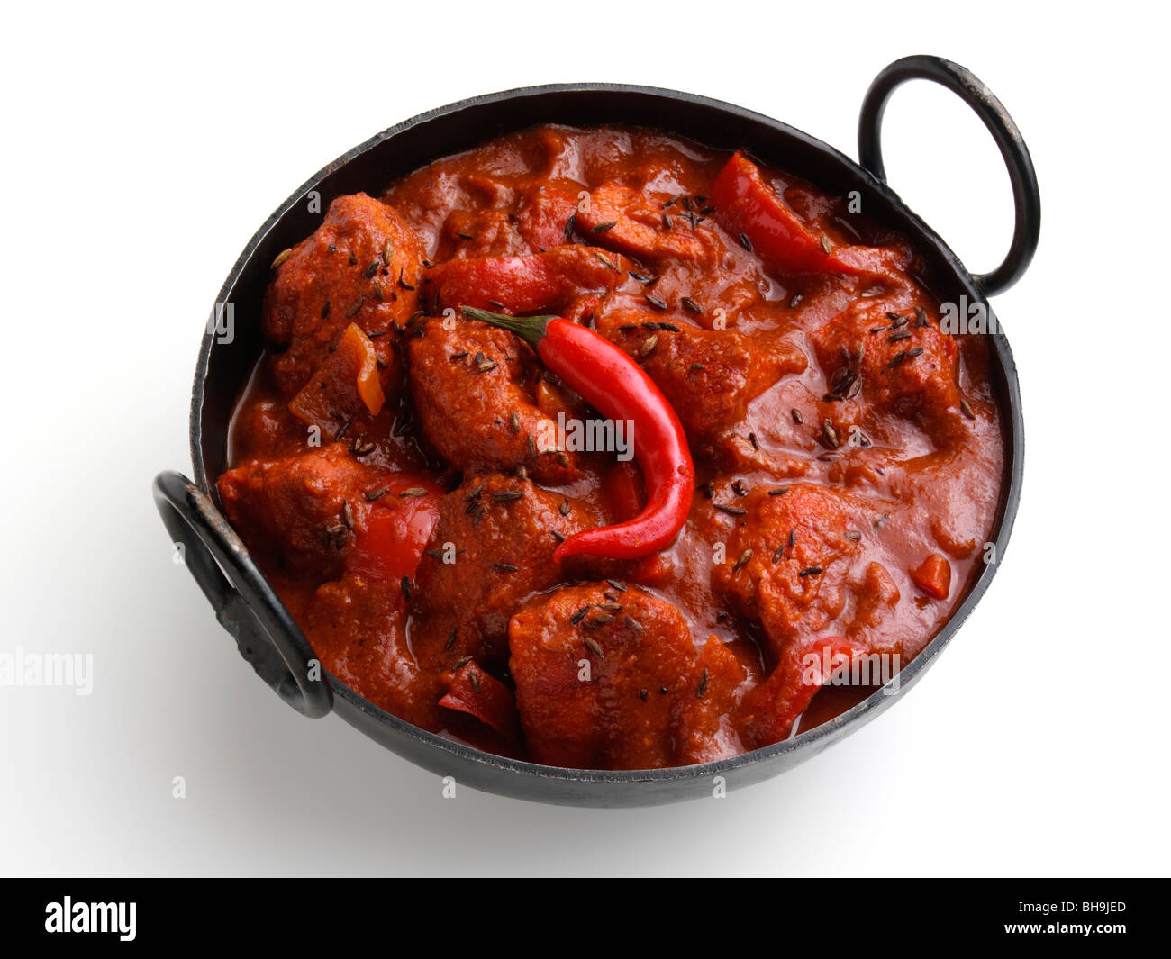 Chicken vindaloo indian hot curry stock photo royalty free image chicken vindaloo indian hot curry forumfinder Images