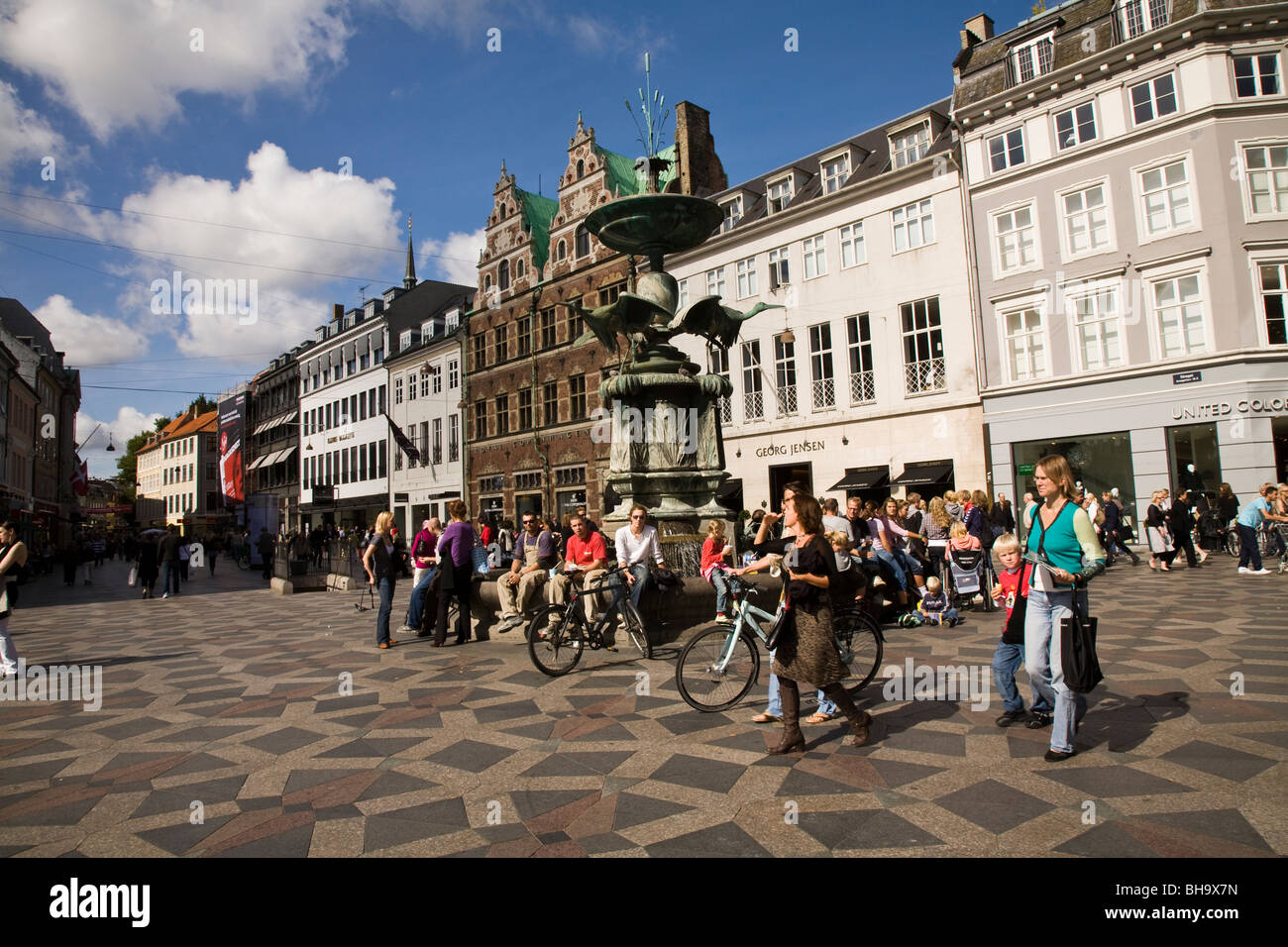 amagertorv is a busy square on the stroget copenhagen 39 s popular stock photo royalty free image. Black Bedroom Furniture Sets. Home Design Ideas