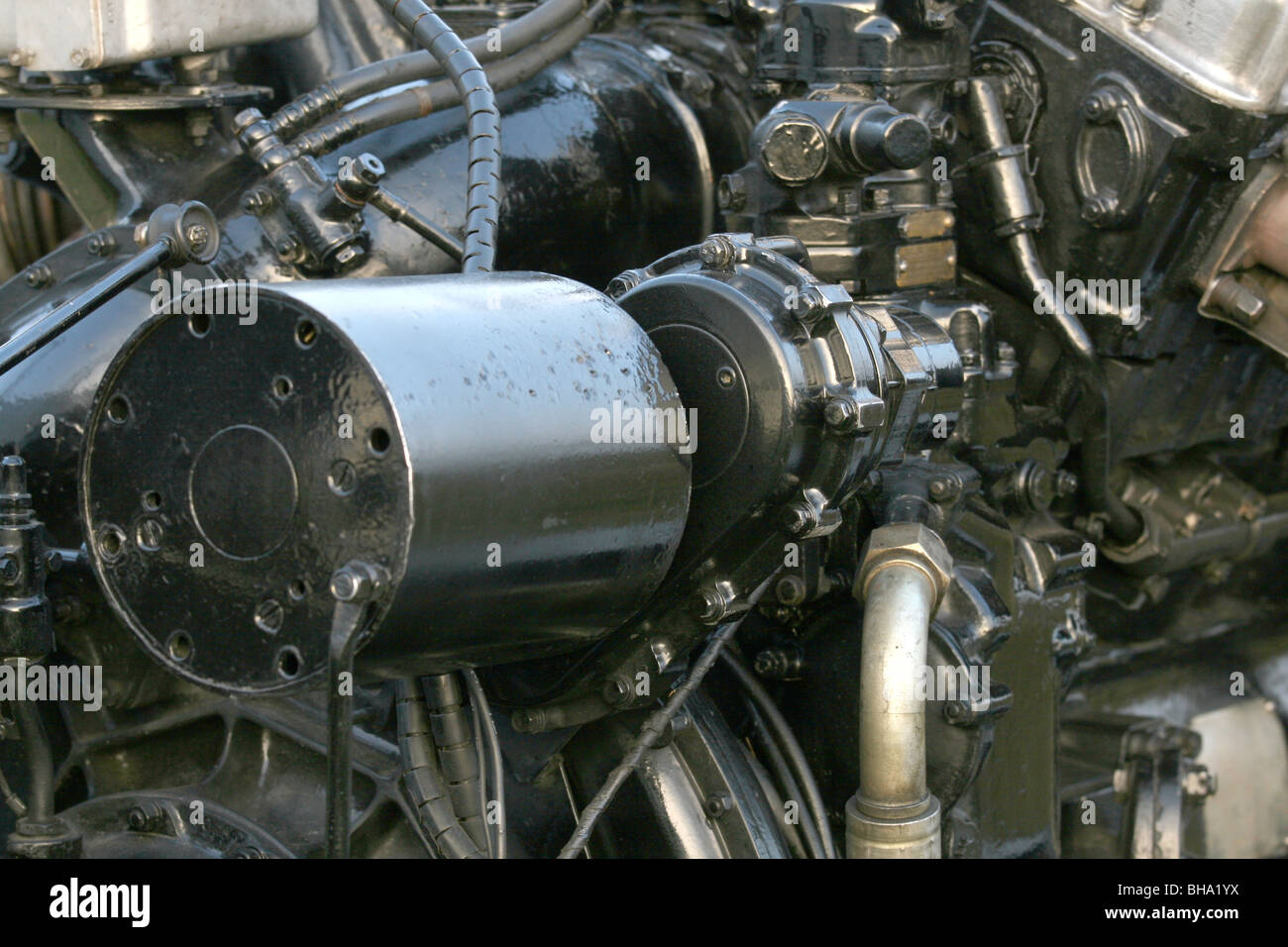 Detail of the Rolls-Royce Merlin Engine used in the ...