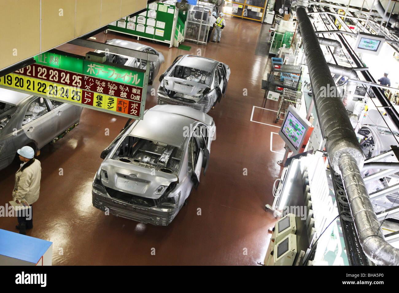 Production Line Of Tsutsumi Plant At Toyota Motor Company