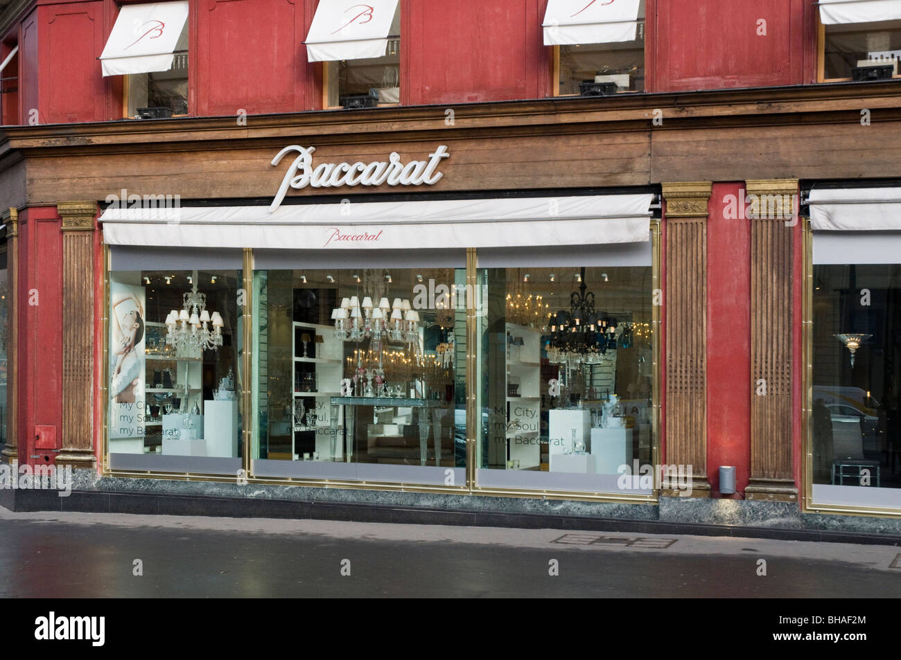 baccarat crystal shop place de la madeleine paris stock photo royalty free image 27890876. Black Bedroom Furniture Sets. Home Design Ideas