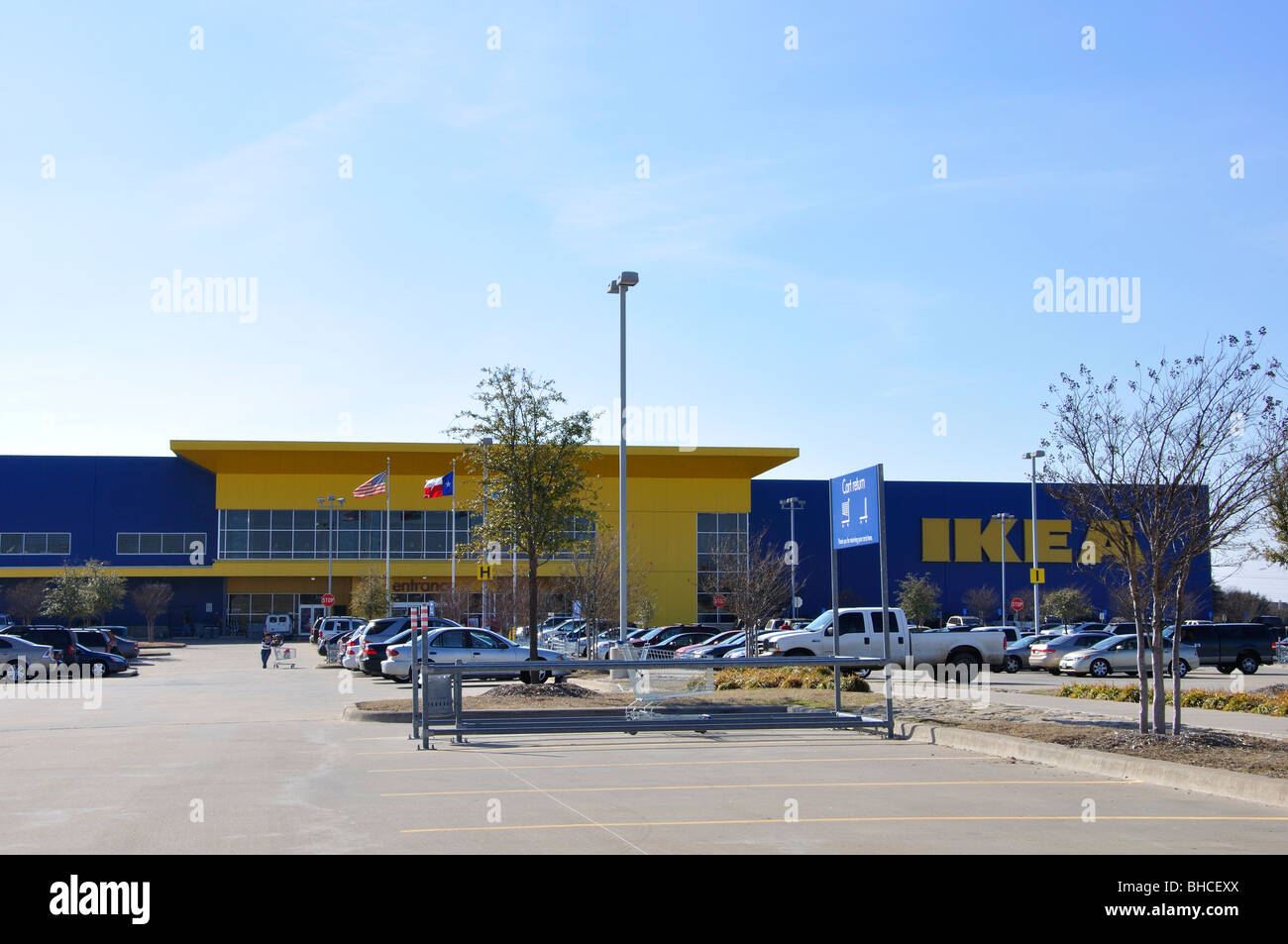 ikea store and parking lot frisco texas usa stock photo