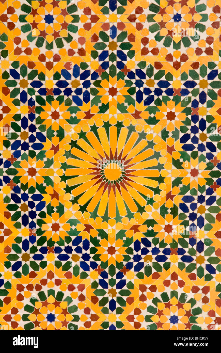 Close up of mosaic tile patterns, Hassan II Mosque, Casablanca ...