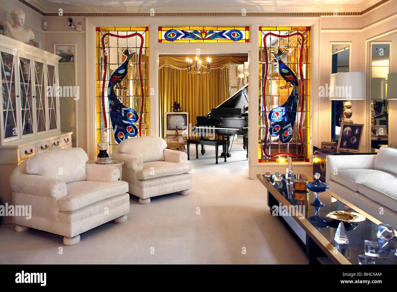 Elvis Presleys Living Room Graceland Memphis Tennessee USA