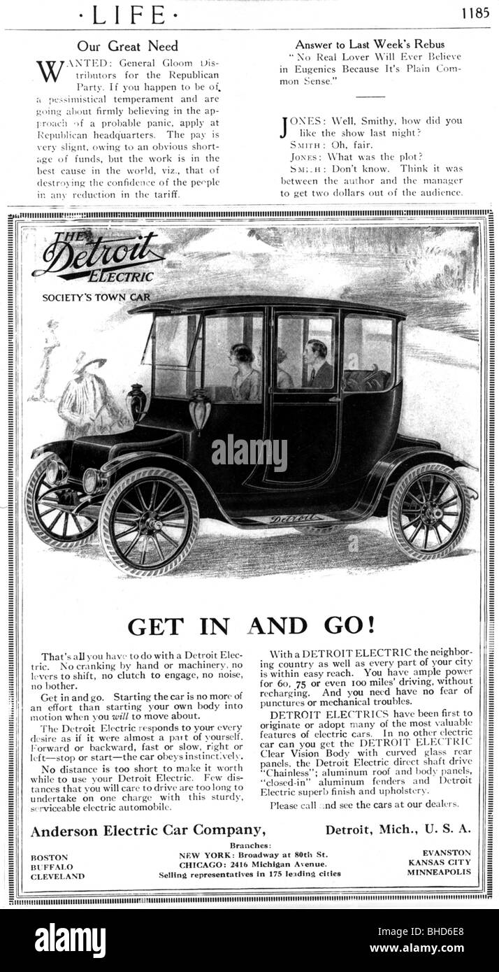 advertising, cars, Detroit Electric, electric car, Anderson ...