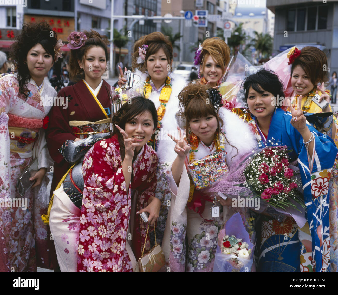 Japan Going Japan For A Holiday: Coming Of Age Day, Seijin No Hi, Okinawa Japan. Japanese