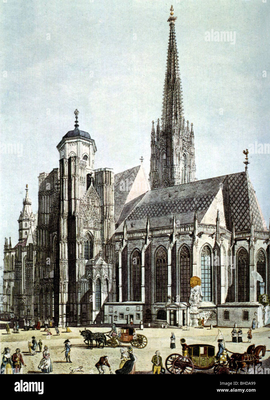 http://c8.alamy.com/comp/BHDA99/geography-travel-austria-vienna-st-stephans-church-coloured-drawing-BHDA99.jpg