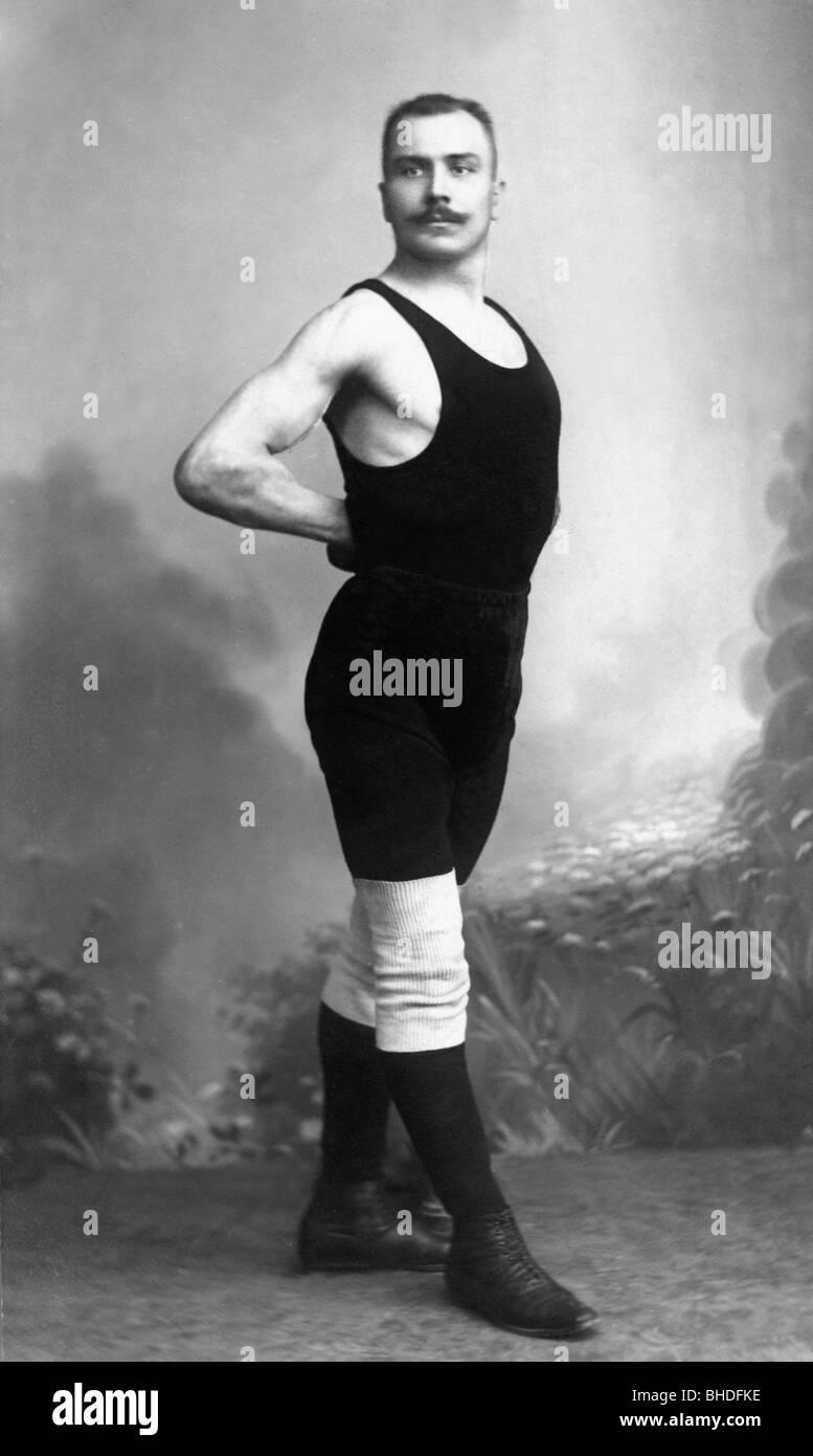 people, men, musclemen, man in a wrestling suit, posing ...