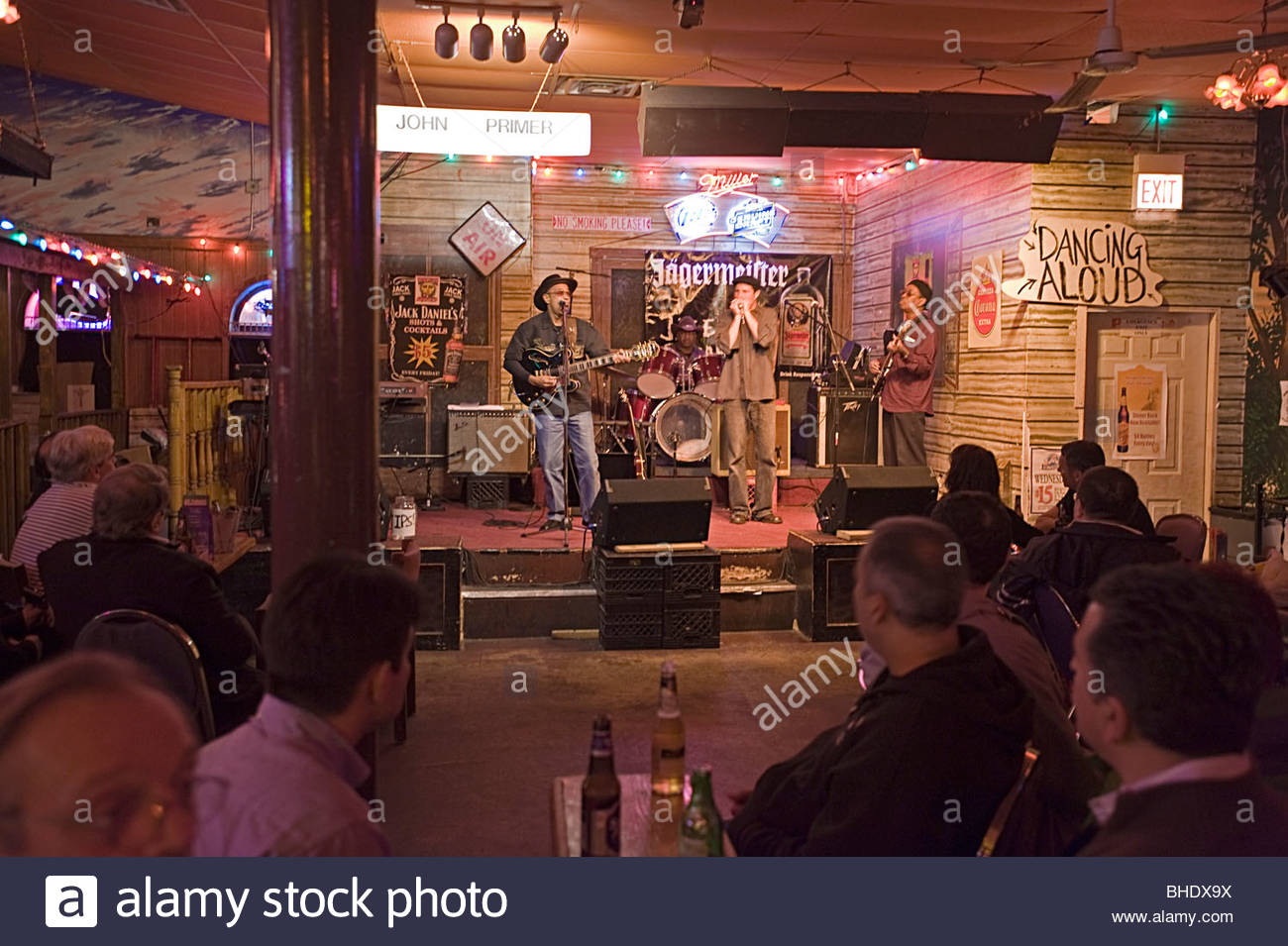 John Primer Performing At The Famous Quot Kingston Mines Quot Blues Club In Stock Photo Royalty Free