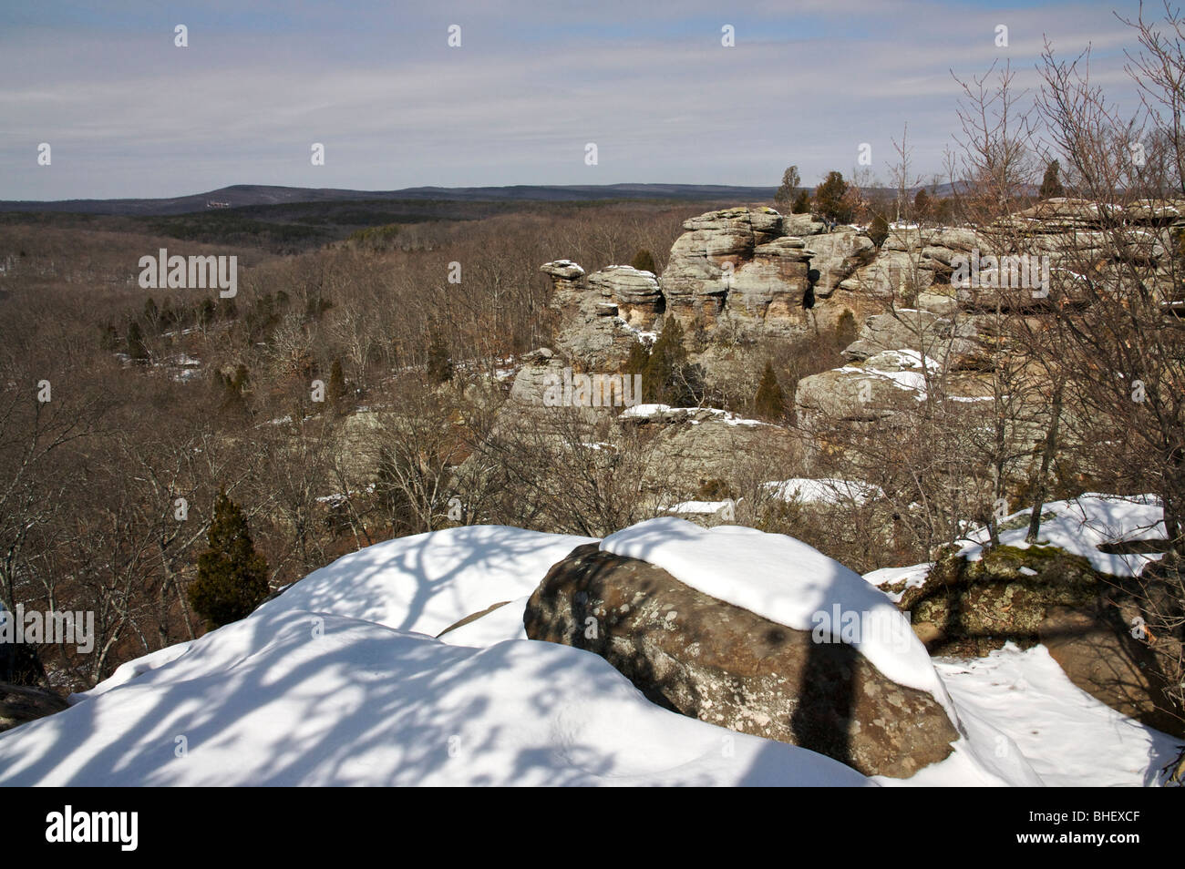 Garden Of The Gods Recreation Area In Winter Illinois Usa Stock Photo Royalty Free Image