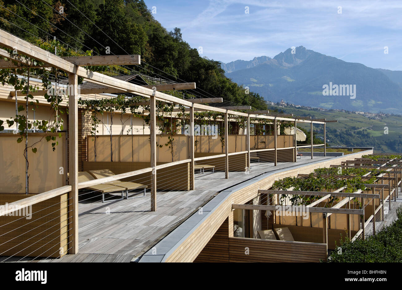 Terraces of the design hotel pergola residence in the for Design hotel vinschgau