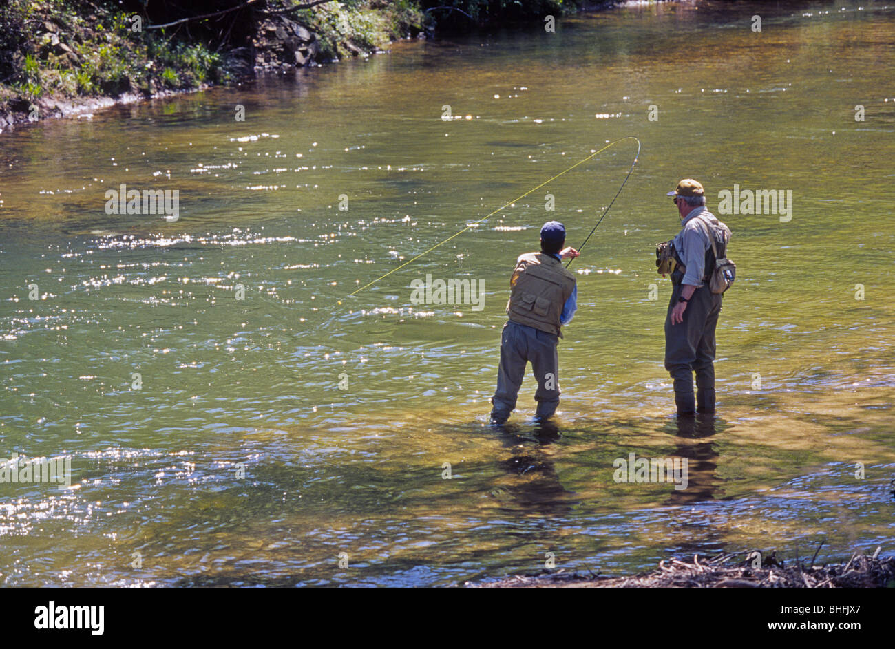 Fly fishing for rainbow trout on the chattahoochee river for Fly fishing georgia
