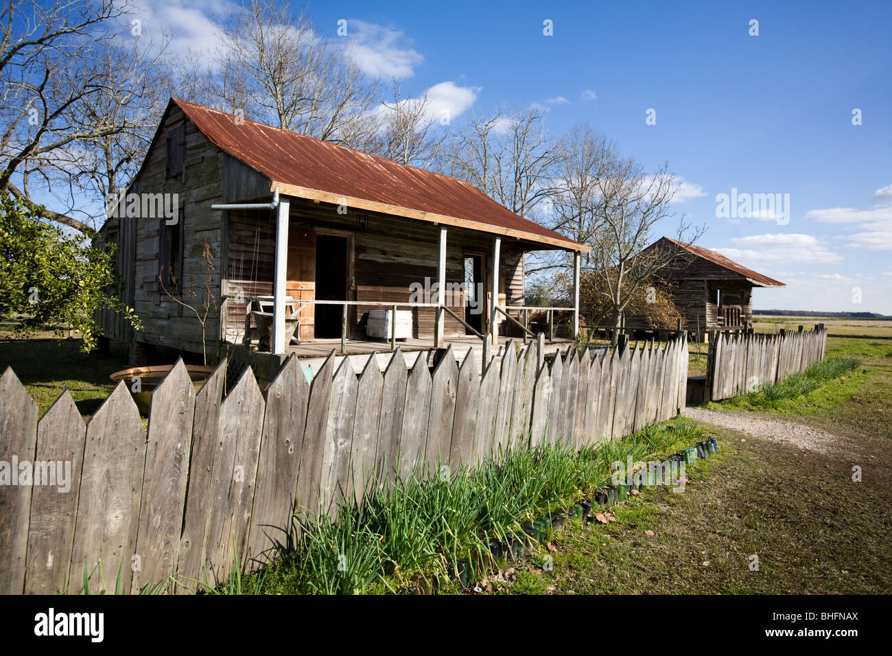 Slave Cabins At Laura Plantation, River Road, North Of New Orleans,  Louisiana, Home Of Brer Rabbit Stories