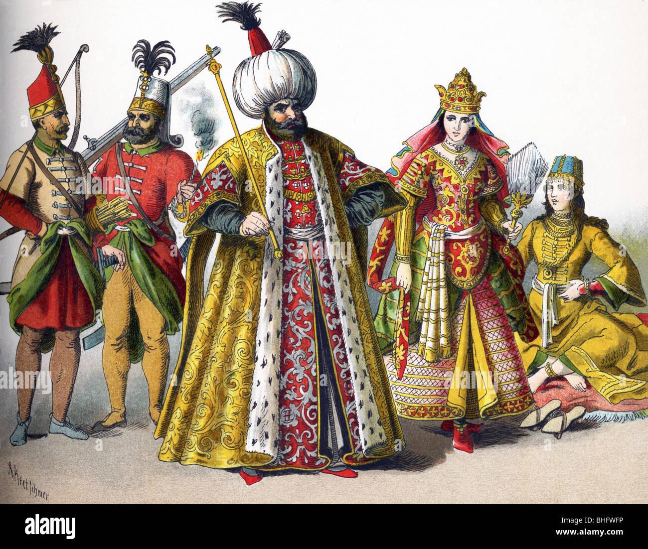 These Ottoman Empire Figures In 1500 Represent A Guard A