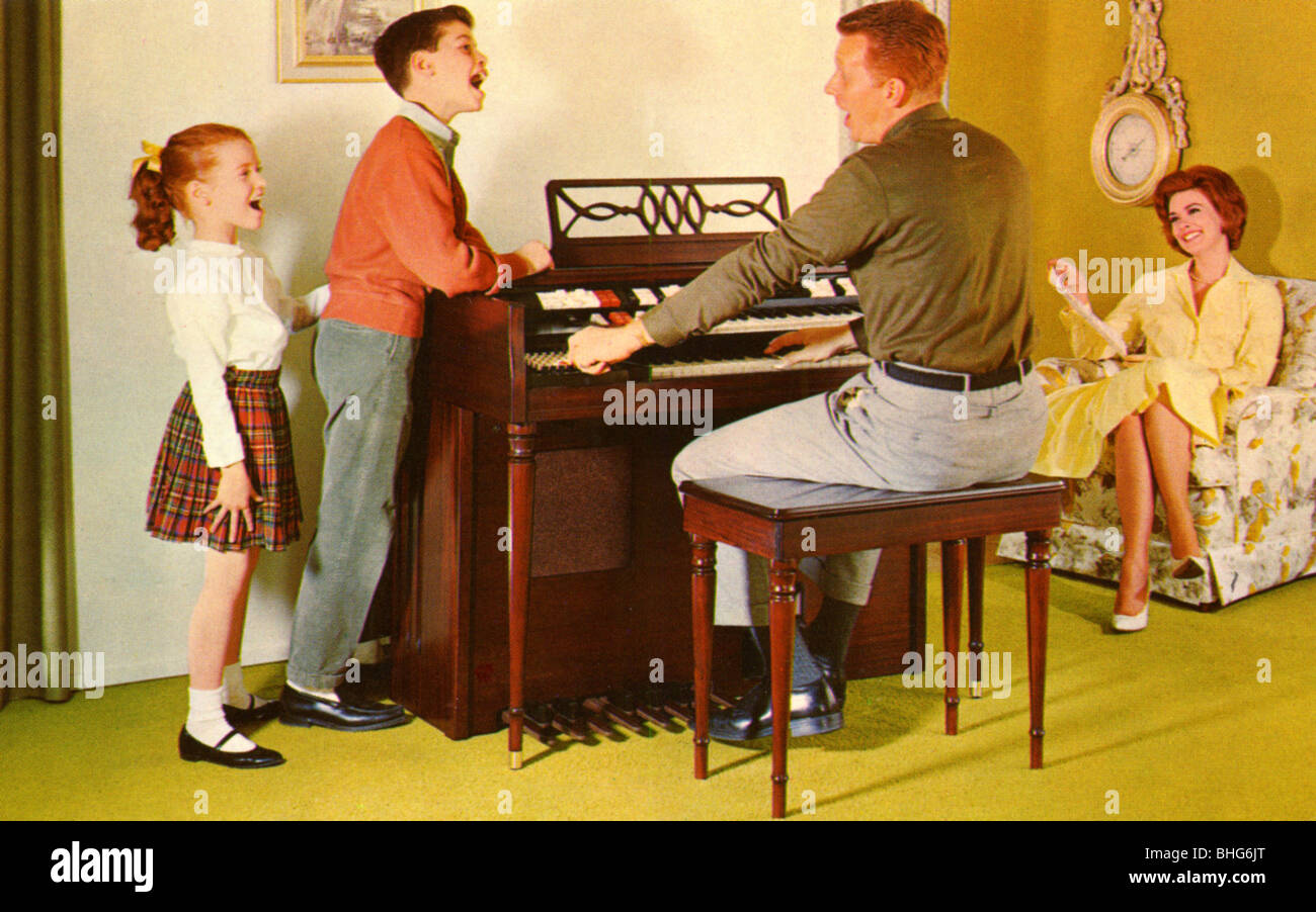 Image result for family singing around the organ
